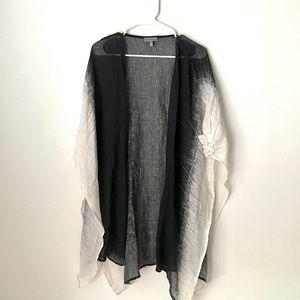 ANTHROPOLOGIE Conditions Apply White Black Kimono